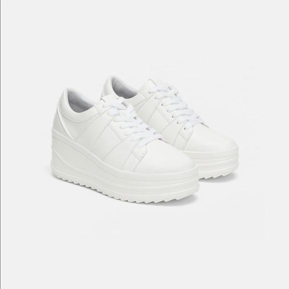 Zara Shoes | Zara White Platform